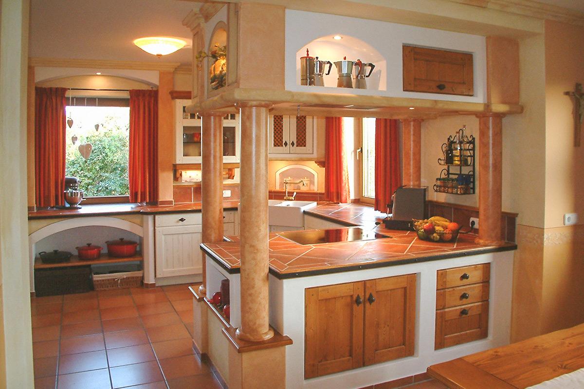 Küchen landhausstil mediterran  kuechen-mediterran-10 - SH Küchen Waging
